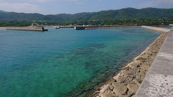 海から眺める伊野田漁港
