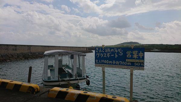 伊野田漁港でグラスボート