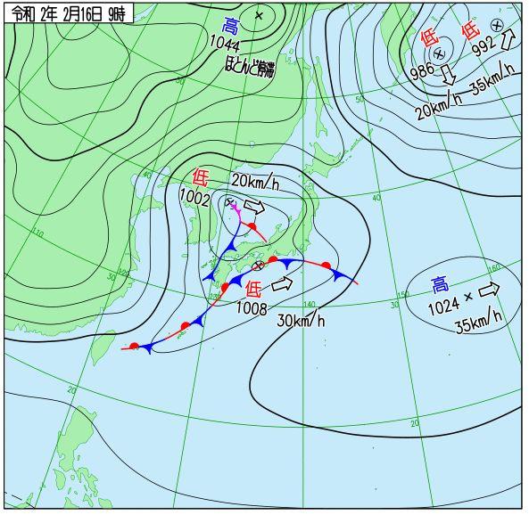 2月16日天気図