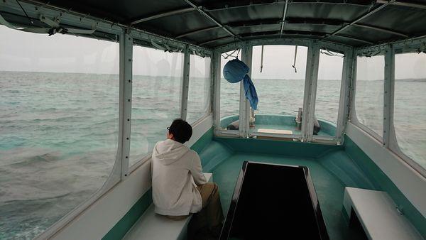 サンゴ群落に向かう途中