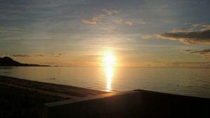 石垣島東海岸、伊野田漁港で朝日を独り占め!