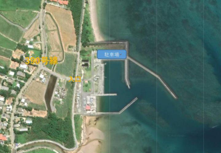 伊野田漁港、駐車場
