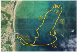 さんご礁の海からグラスボート、水中観光船のツアーコースのご紹介!