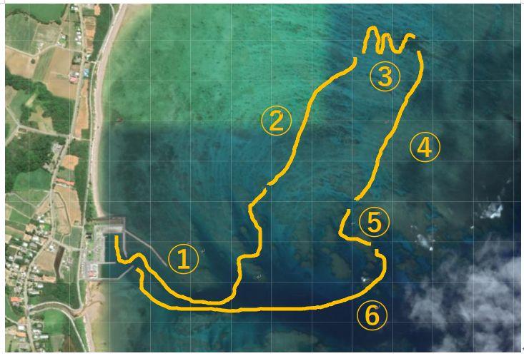 グラスボートのコースマップ