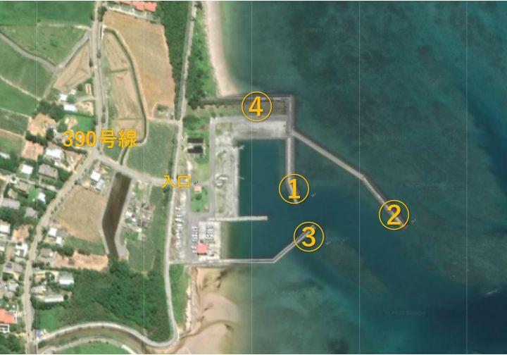伊野田漁港散策マップ