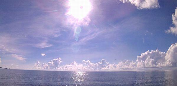石垣島の陽射しは半端ない