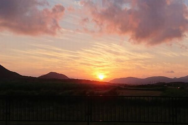石垣島の日没は遅い