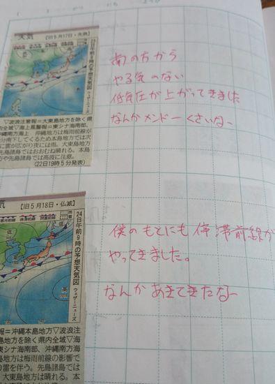 下積み時代の天気図のお勉強