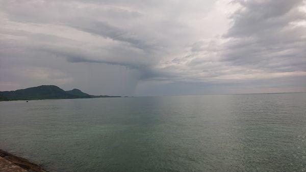 曇の天気の石垣島です。