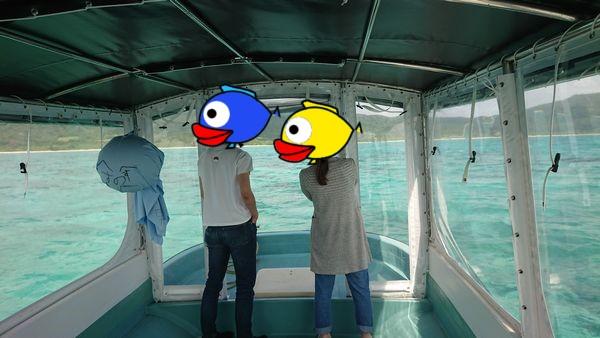 広々ボートでのんびり観察