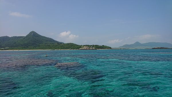 石垣島の海!教科書通りのエメラルドグリーンです。