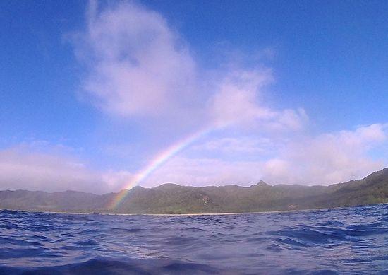 雨の後は虹がでることも