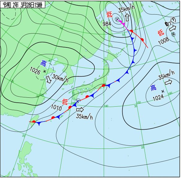 3月28日の天気図