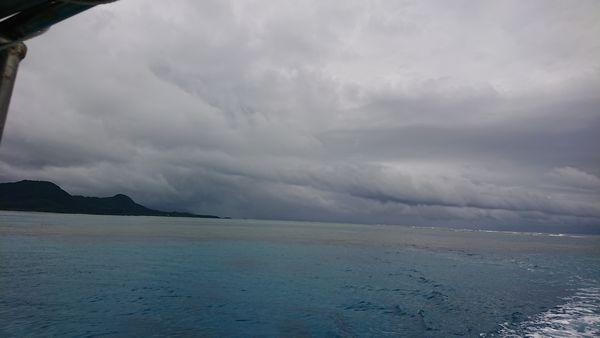 どんより曇りの石垣島