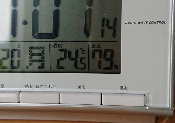 気温は24℃、湿度79%の石垣島です
