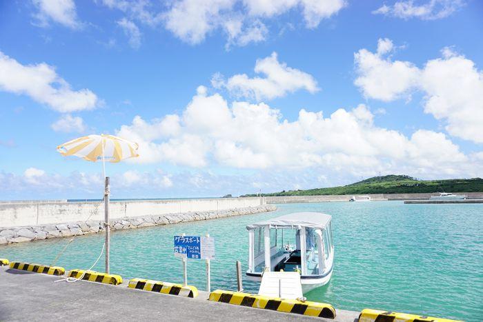 石垣島東海岸でグラスボートツアー、さんご礁の海から