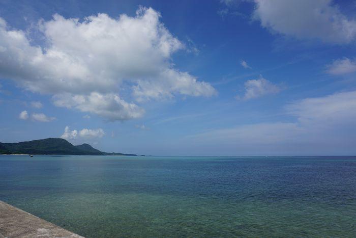 晴れた穏やかな石垣島です