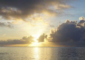 サンライズ、日の出!グラスボートで朝日を楽しもう!