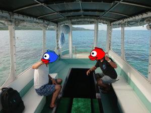隠れ家的スポットを探して石垣島東海岸でグラスボートを満喫♪