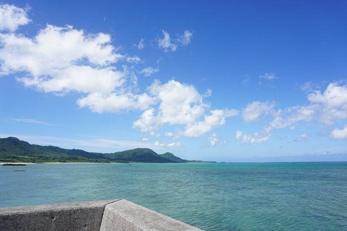 伊野田漁港からの景色