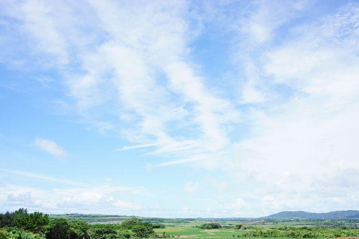 空模様は秋色の石垣島です