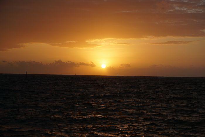 石垣島北部の東海岸だから朝日がきれいです