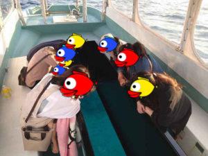 あやぱに島旅クーポンでグラスボート♪