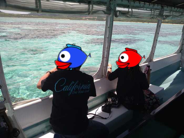 ご旅行最終日のグラスボートツアー