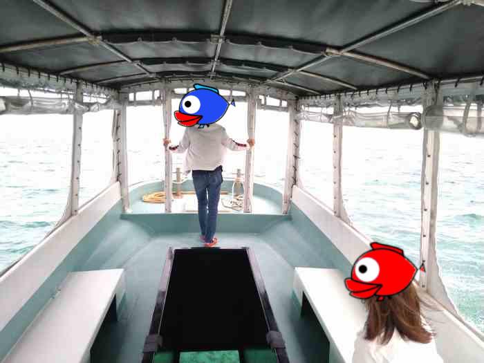 風を感じる船首