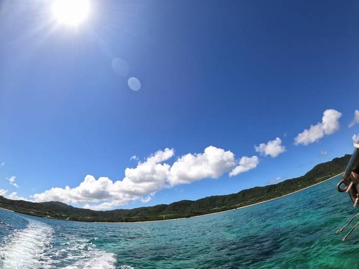天気は晴れ!穏やかな海