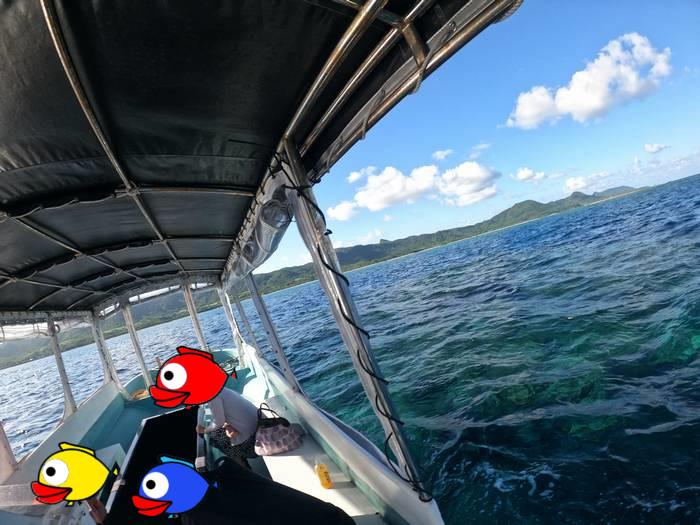 石垣島北部エリアを楽しむグラスボート